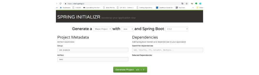 Spring boot Initilizr