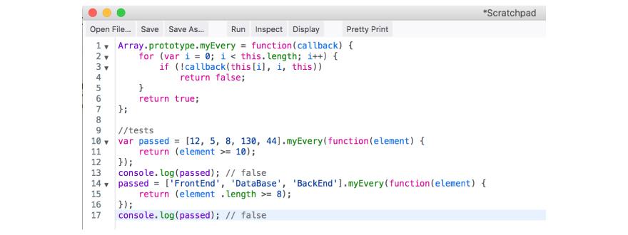 Every vanilla JavaScript code