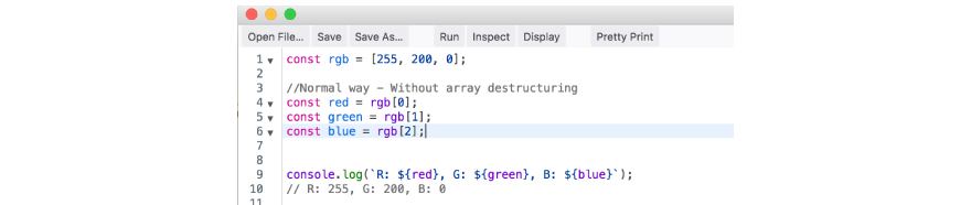 Array Destructuring