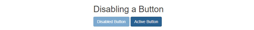 Disabling a button