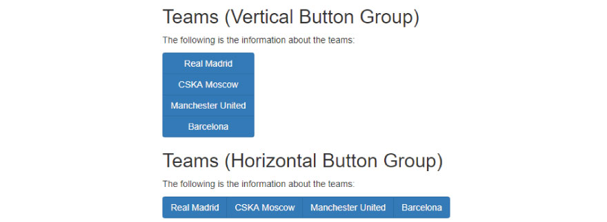 vertical & Horizontal button group
