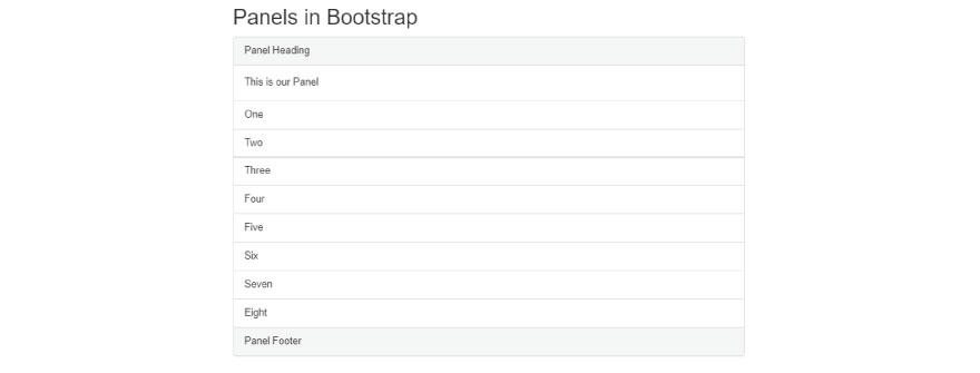Panels in bootstrap