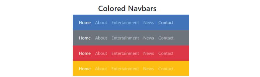Colored Navbars