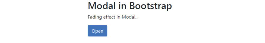 Modal in Bootstrap