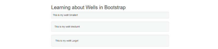 Learning about wells in bootstrap
