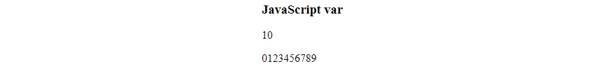 JavaScript var