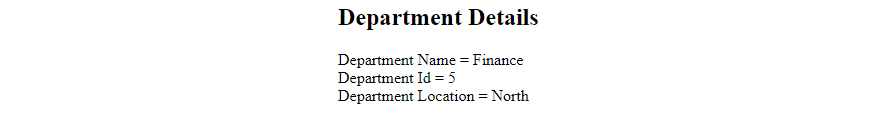Department Details