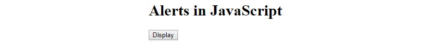 Alerts in javascript