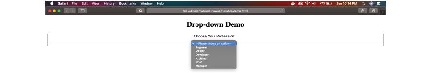 Drop-down Demo