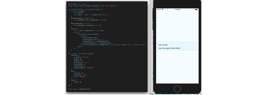 basic text input to React Native