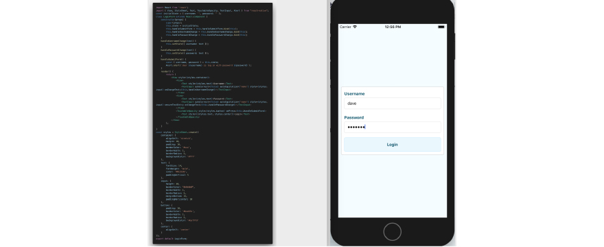 logic screen in React Native