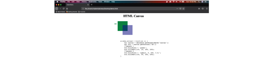 HTML Canvas