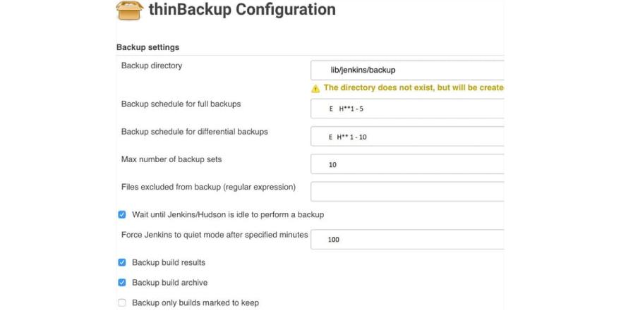 Backup Directory.