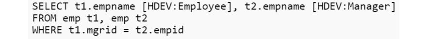 self join code