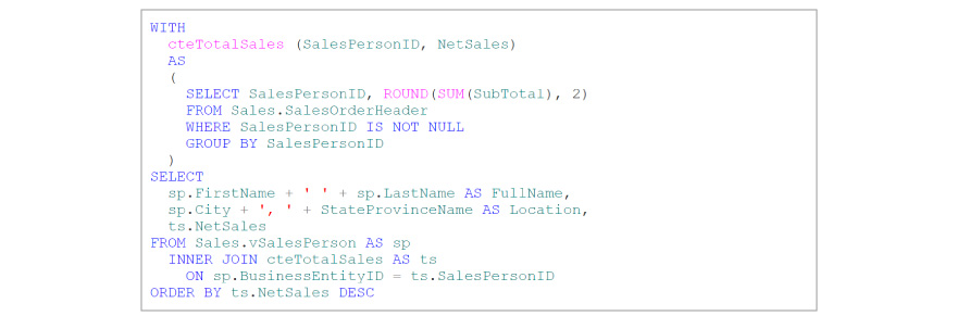 Non-Recursive CTE code