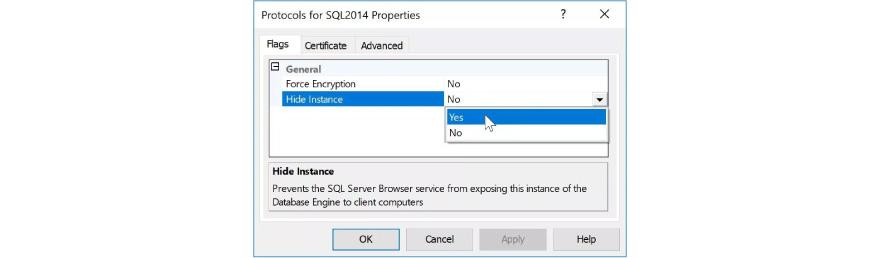 Protocols for SQL2014 properties