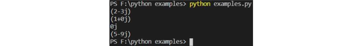 complex(real,imag) example