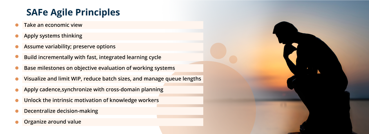 Ten SAFe principles as defined by Scaled Agile.com