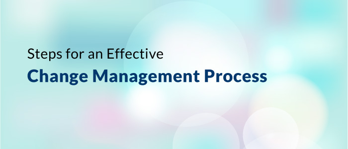Steps For An Effective Change Management Process